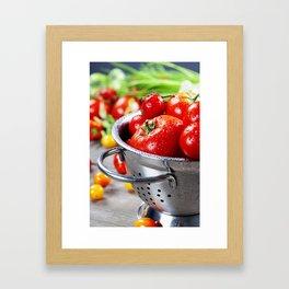 fresh tomatoes Framed Art Print