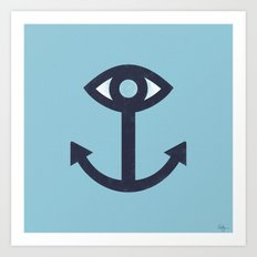 Happy Cyclops Anchor Art Print