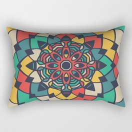 Color full bloom mandala Rectangular Pillow