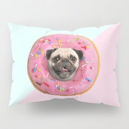 Pug Strawberry Donut Pillow Sham