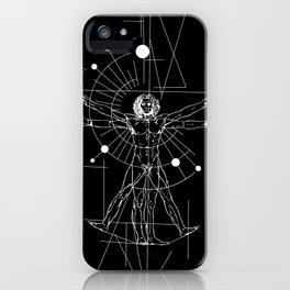 Astral Da Vinci black iPhone Case