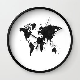 World Map Wall Art,World Map Canvas,World Map Print,World Map Poster,Printable Art,World Map Svg,Wat Wall Clock