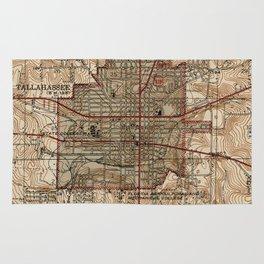 Vintage Map of Tallahassee Florida (1940) Rug