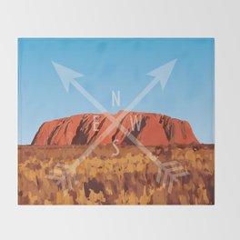 Uluru Throw Blanket