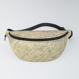 Map Of Montreal 1875 Fanny Pack