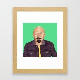 The Israeli Hipster leaders - Chaim Weizmann Framed Art Print