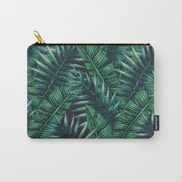 Palm and Banana Leaf Tropical Pattern Carry-All Pouch