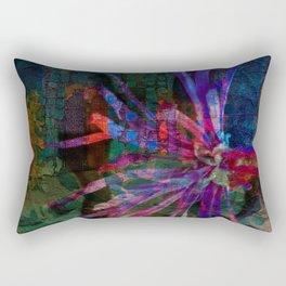 City Floral Burst Rectangular Pillow