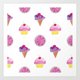 Ice Cookies Art Print
