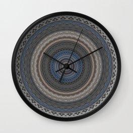 New Color Pyramidal Mandala 74 Wall Clock