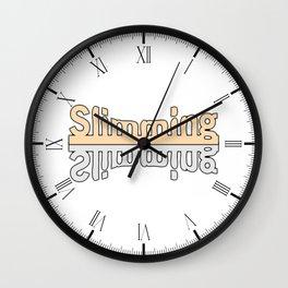 Losing Weight Wall Clock