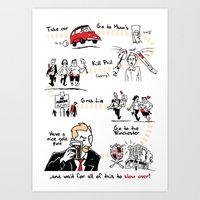 shaun of the dead Art Prints featuring Shaun of the Dead by Rob O'Connor