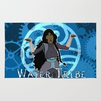 airbender Area & Throw Rugs featuring Water Tribe by Chouly-Shop