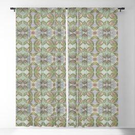 Coleus Quiet Gray Pattern Blackout Curtain