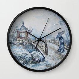 Snowstorm (Winter) Merry Christmas Wall Clock