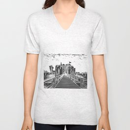 Caerphilly Castle Unisex V-Neck