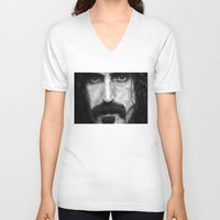 frank V-neck T-shirts featuring Frank by ClaM