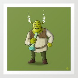 Ogre Smoking Art Print
