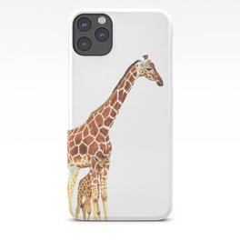 Giraffe Art - A Mother's Love - By Sharon Cummings iPhone Case