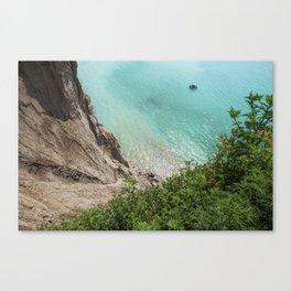 Heights | Blue Ocean | Sea | Beach | Shore | Waves | Summer | Travel | Boat Canvas Print