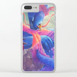Dragon Hug Clear iPhone Case