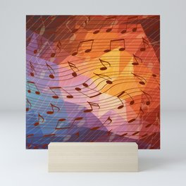 Music notes III Mini Art Print