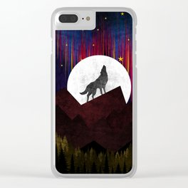 Wolf XOX Clear iPhone Case