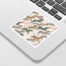 Zebra Stampede Sticker