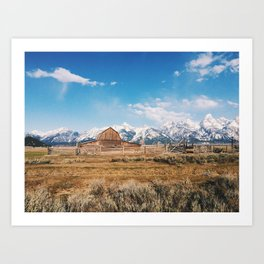 The Grand Tetons Art Print