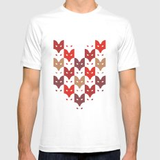 Foxes  MEDIUM White Mens Fitted Tee