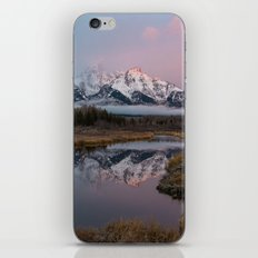 Snowy Pink Sunrise in the Tetons iPhone & iPod Skin
