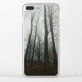Forrest of numbers Clear iPhone Case