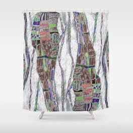 Weaving the Thread: Strands of Life Shower Curtain