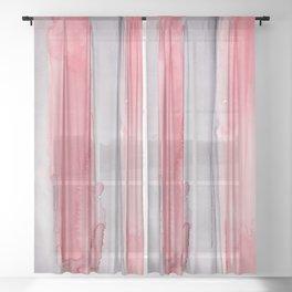 27    190907   Watercolor Abstract Painting Sheer Curtain