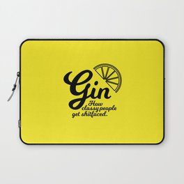 Gin. How classy people get shitfaced – Lemon Laptop Sleeve