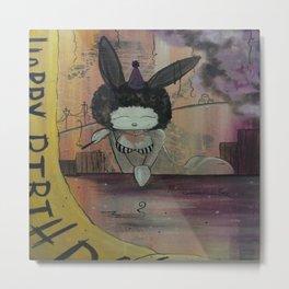 Birthday Bunny Metal Print