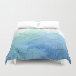 Abstract Watercolor Texture Blue Green Sea Sky Colors Duvet Cover