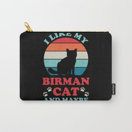 Funny Birman Cat Carry-All Pouch