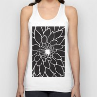 dahlia Tank Tops featuring Dahlia by Gemma Bullen Design