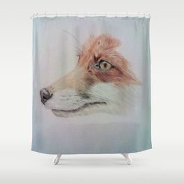 The fox Shower Curtain