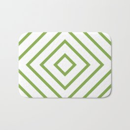 Nested Green Squares Bath Mat
