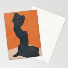 Abstract Nude IV Stationery Cards