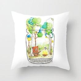 """""""Marshmallow"""" Toasting Throw Pillow"""
