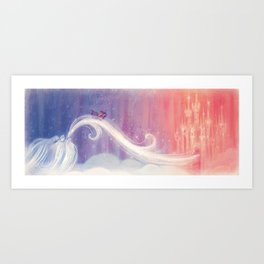 """Celeste in the sky // Illustration from """"Once Upon A Cloud"""" Art Print"""