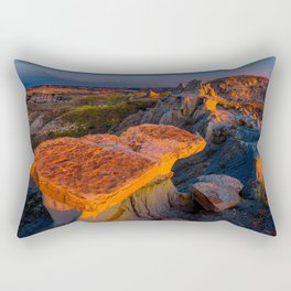 USA Theodore Roosevelt National Park Nature Mountains Parks Scenery mountain park landscape photography Rectangular Pillow