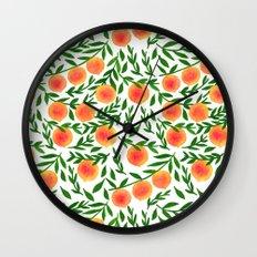 The Peach Tree Wall Clock