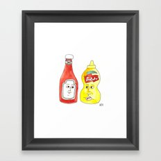 Condiment Friendship Framed Art Print
