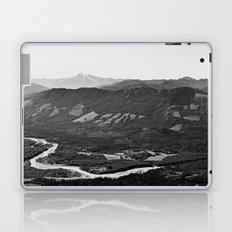River in the Mountains B&W Laptop & iPad Skin