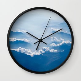 Clouds Over The Mountain Tops Wall Clock