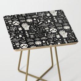Curiosities: Bone Black Side Table